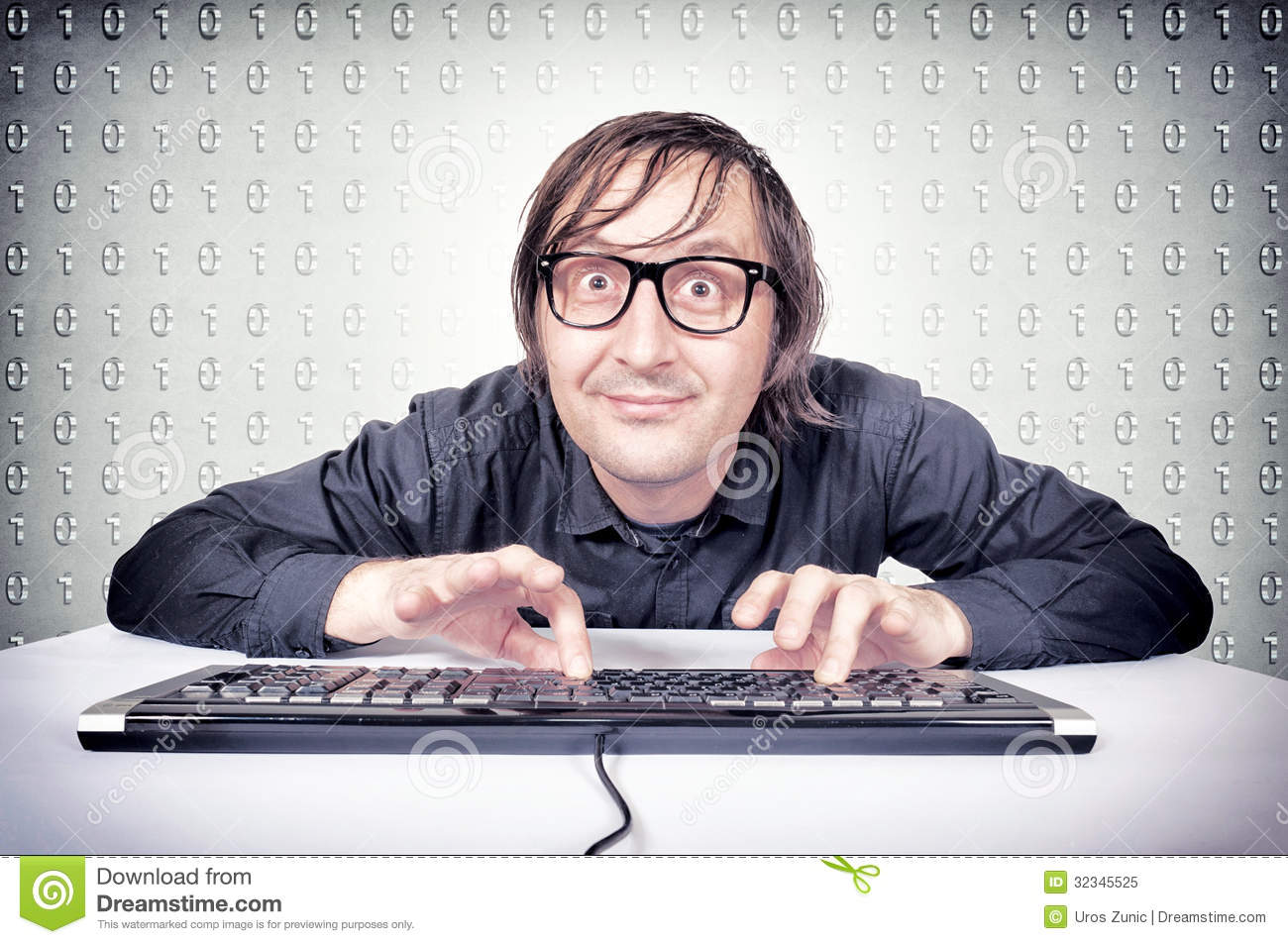 Royalty Free Stock Photo Funny Hacker Typing Keyboard Image32345525