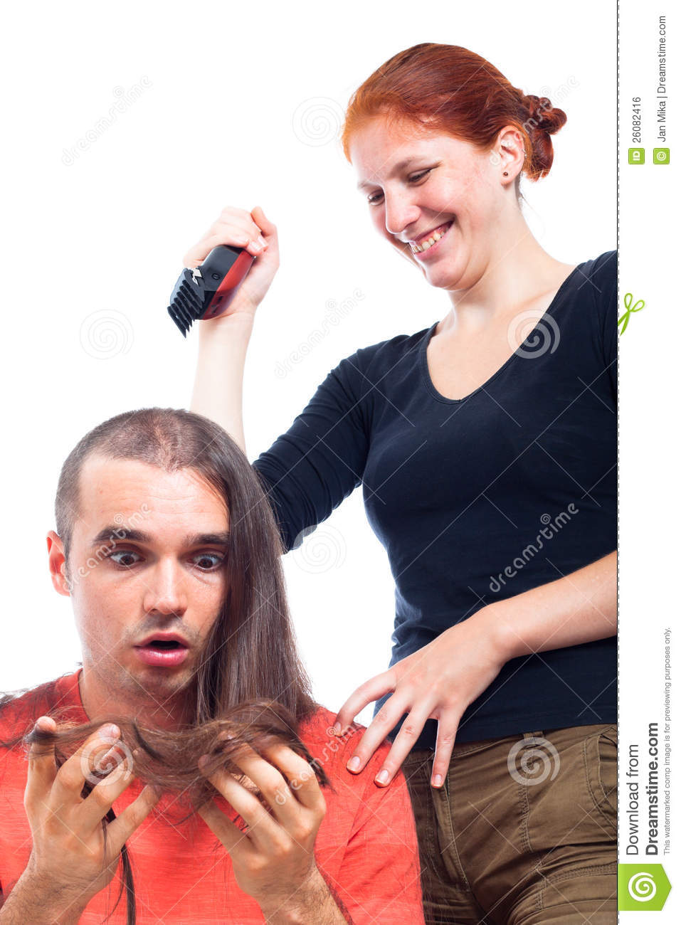 Funny Hairdressing Royalty Free Stock Image - Image: 26082416