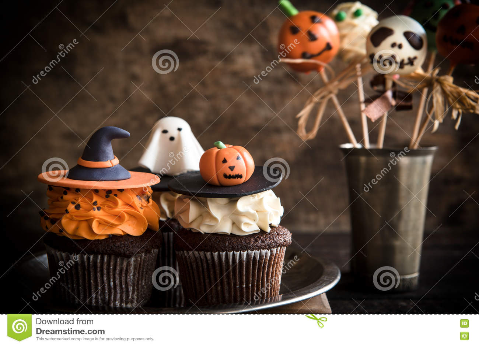 Funny Halloween Desserts Stock Photo - Image: 77219626