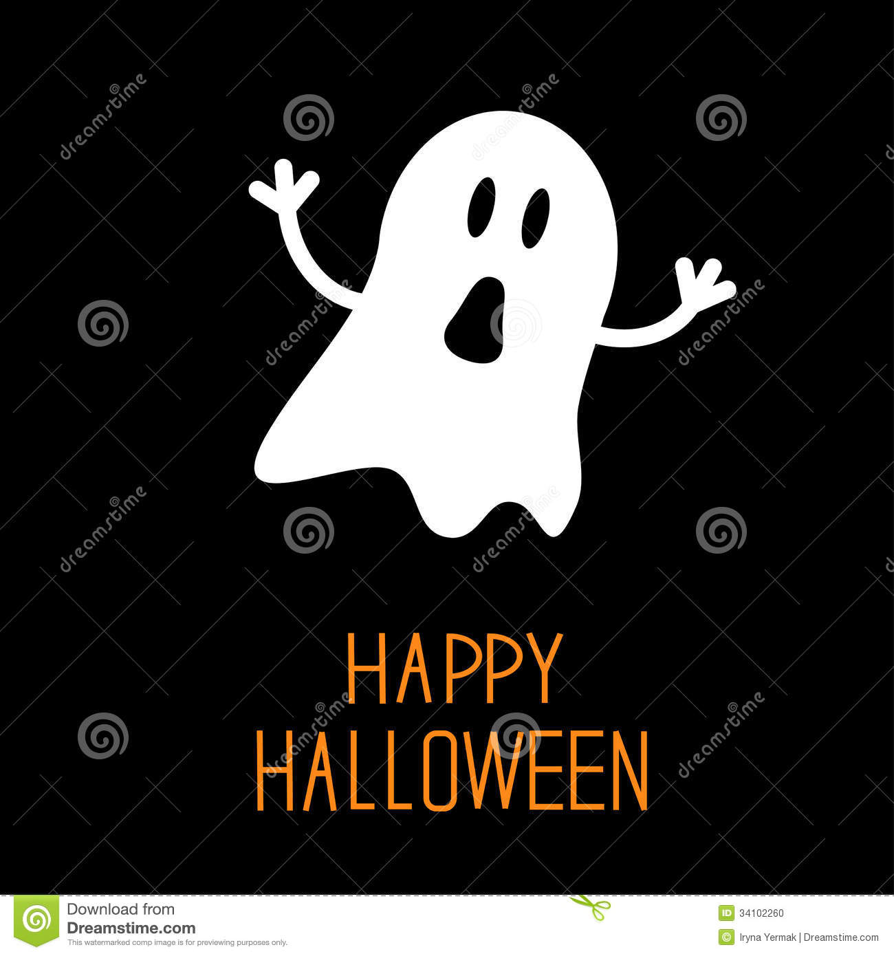 Vector halloween symbols witches pumpkins ghost stock vector funny halloween ghost card stock photo biocorpaavc Choice Image