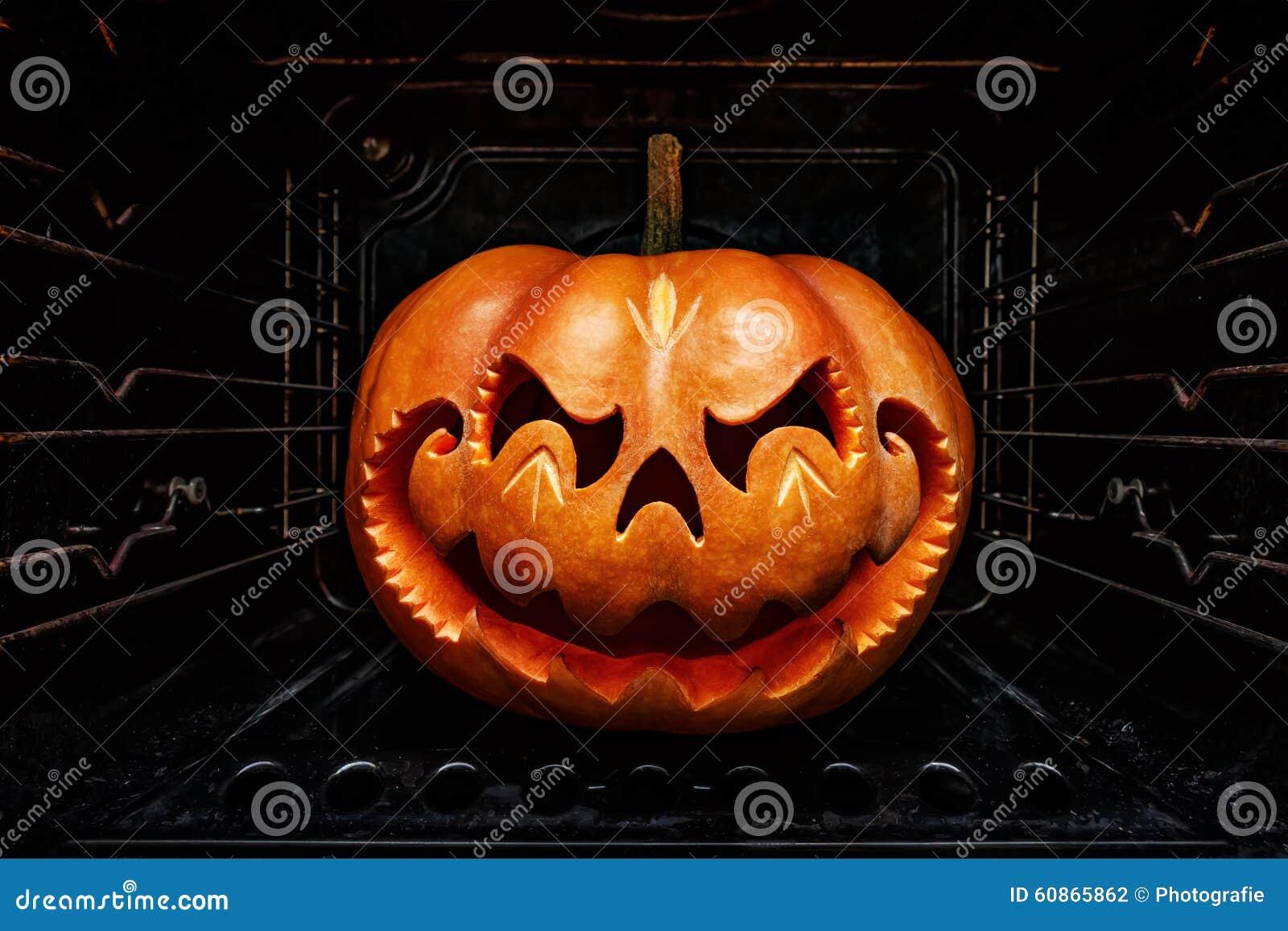 Funny Halloween Pumpkin Resembling A Chinese Dragon Head, Roast ...