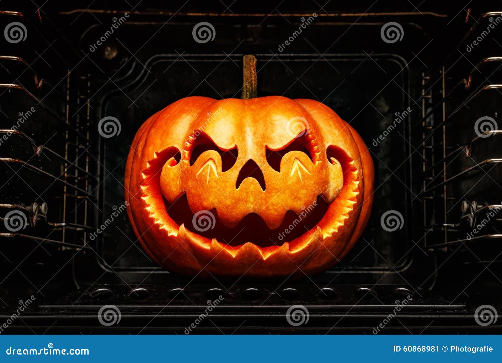 funny halloween pumpkin resembling a chinese dragon head, roast