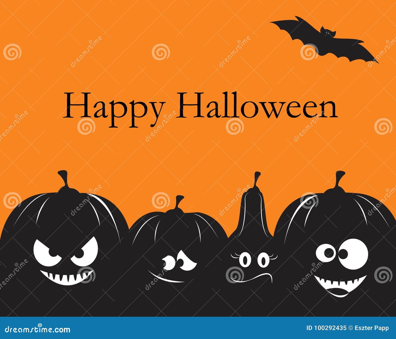funny halloween pumpkins stock vector. illustration of creepy