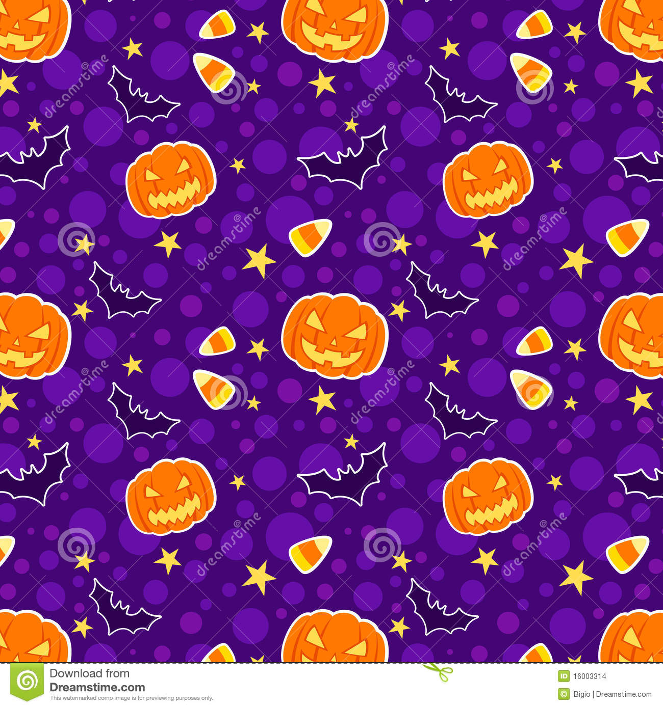 Funny Halloween Seamless Background Stock Vector