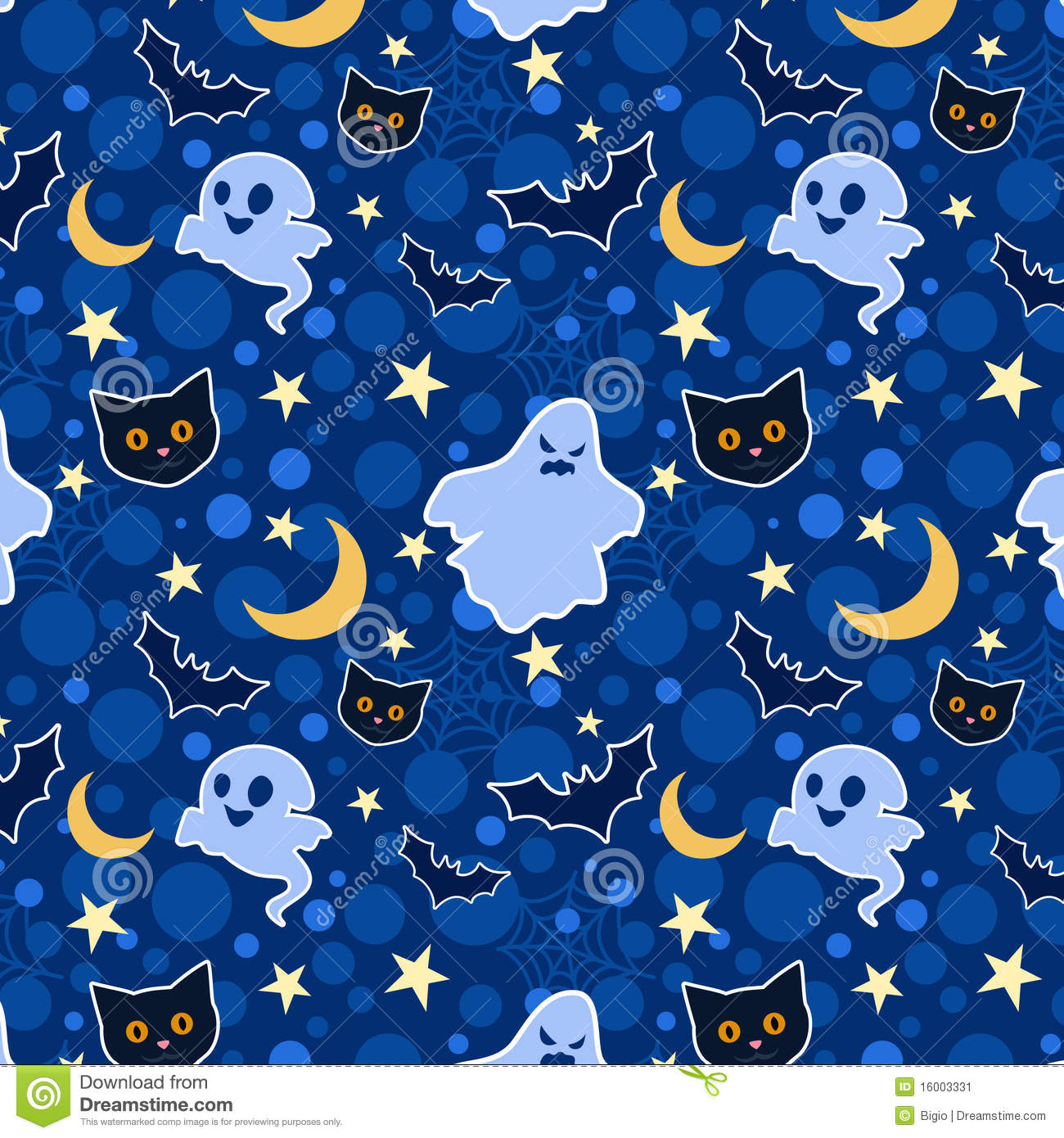 funny halloween seamless background stock vector illustration of