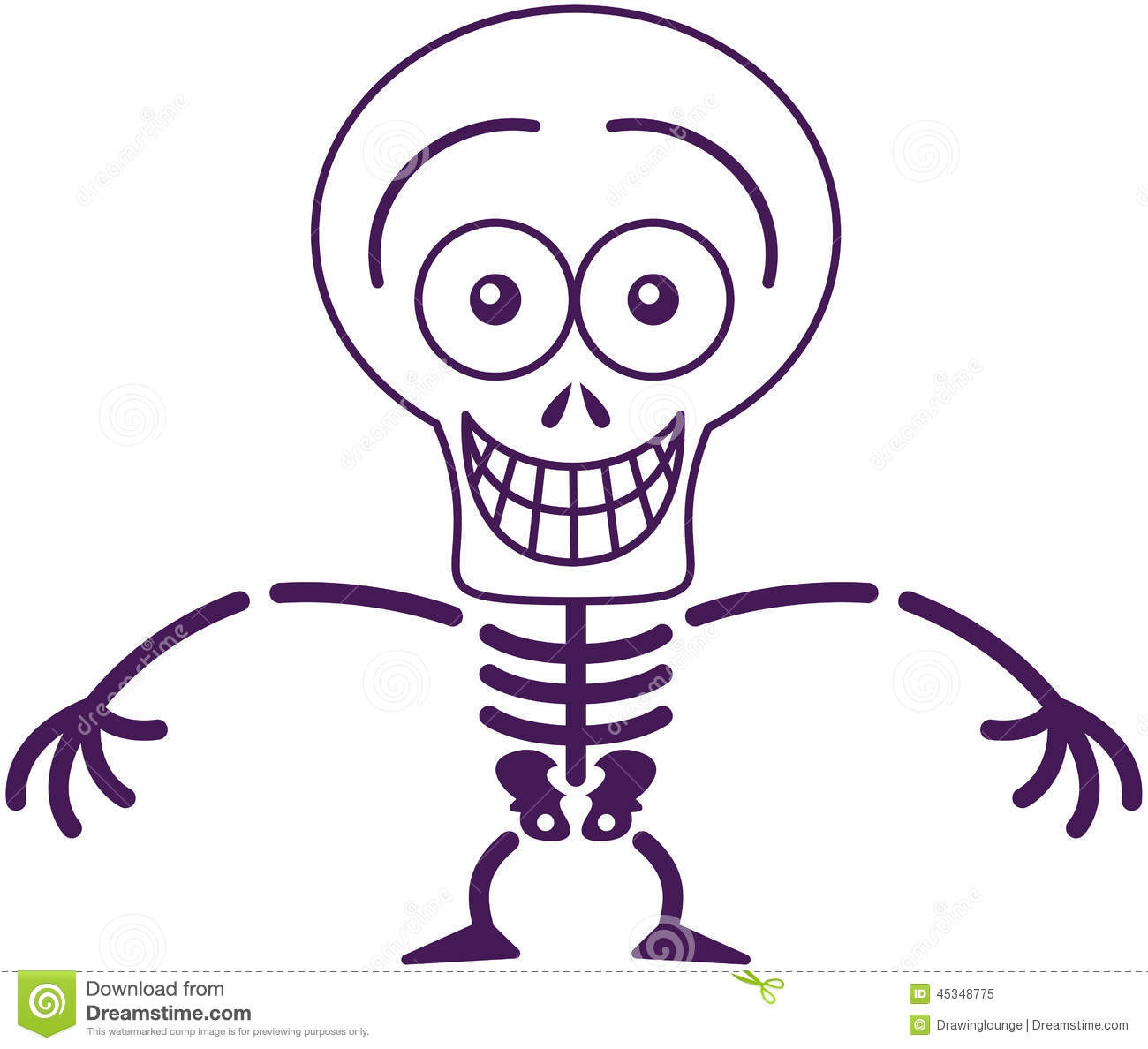 Funny Halloween Skeleton Grinning While Feeling ...