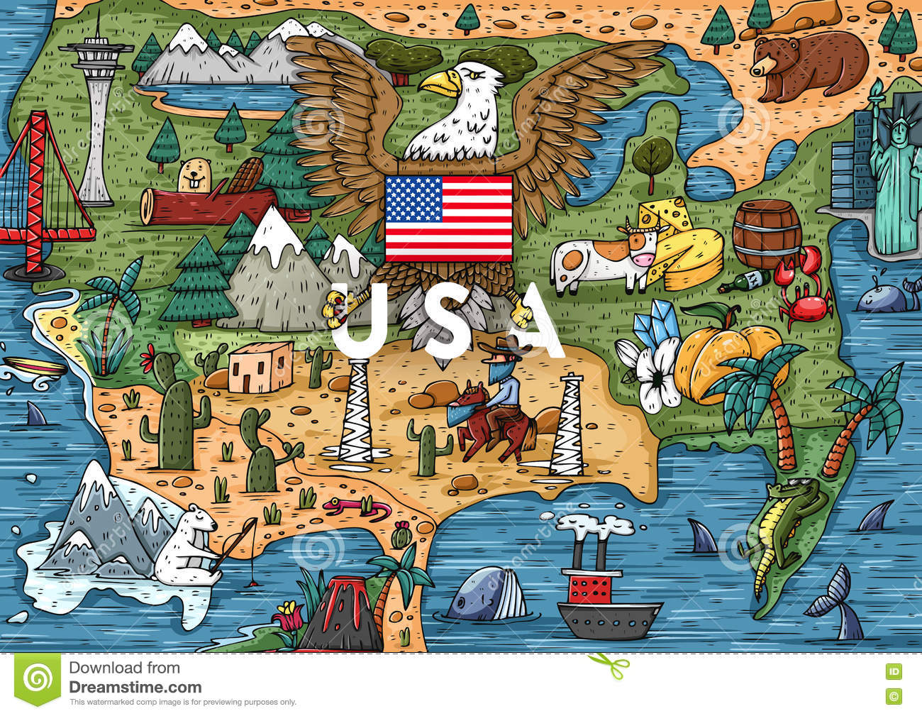 Usa Map Bing Images Usa Map Bing Images Where Is United States - Hand drawn us map vector