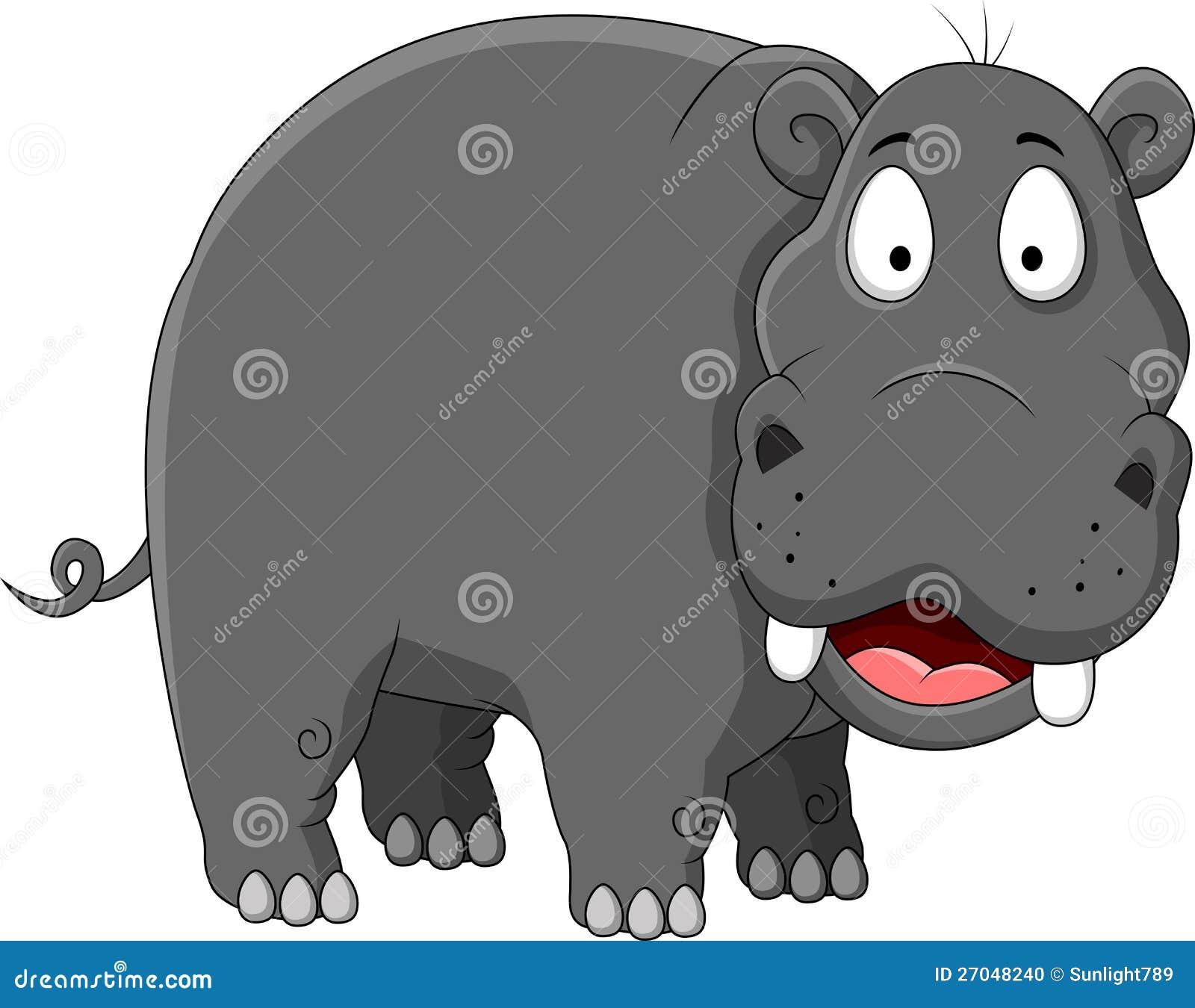 Funny Hippo Cartoon Stock Photo - Image: 27048240
