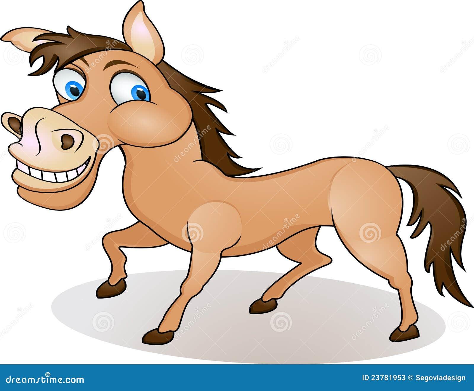 Funny Horse Cartoon Stock Vector Illustration Of Witty 23781953
