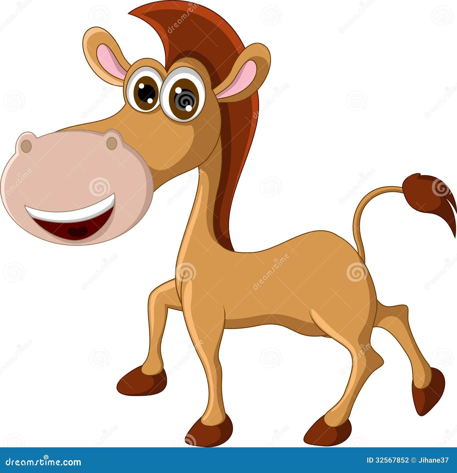 Funny Horse Cartoon Stock Illustration Illustration Of Hooves 32567852