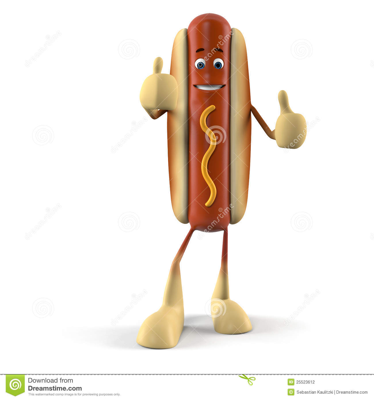 Funny Hot Dog Character Stock Photography - Image: 25523612