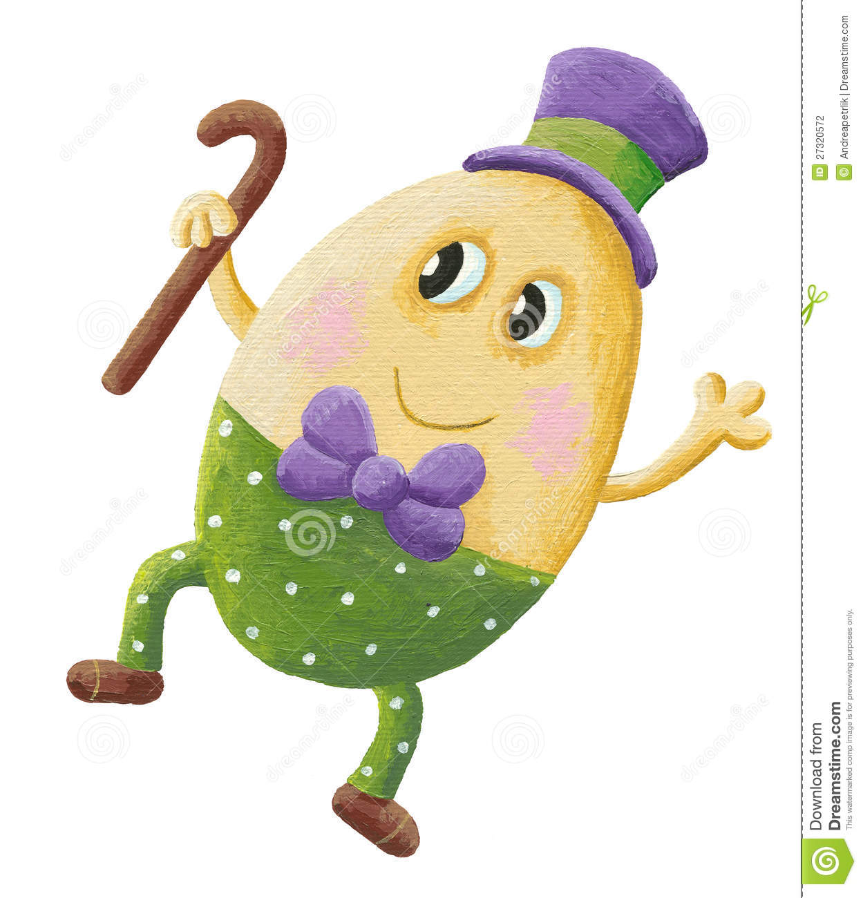 Funny Humpty Dumpty With Hat Stock Photography - Image: 27320572