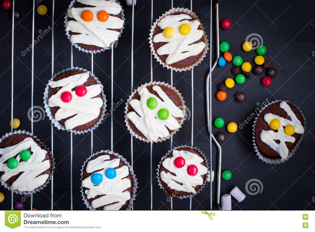 funny idea for halloween dessert stock image image of space