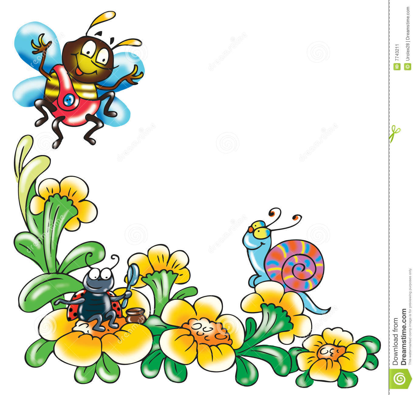 Cartoon of funny insects