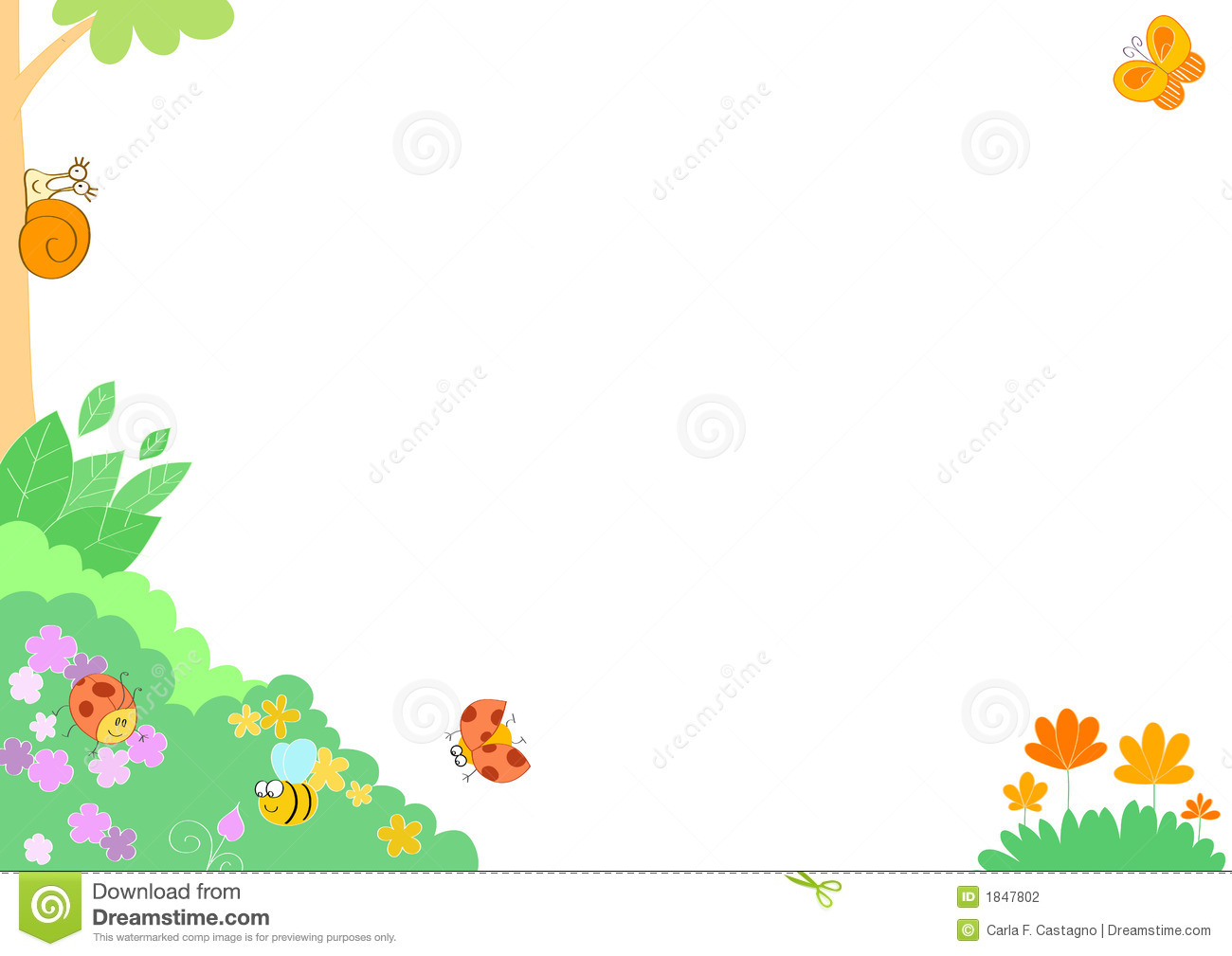 58a8b1ef3bb Funny insects - frame stock vector. Illustration of frame - 1847802