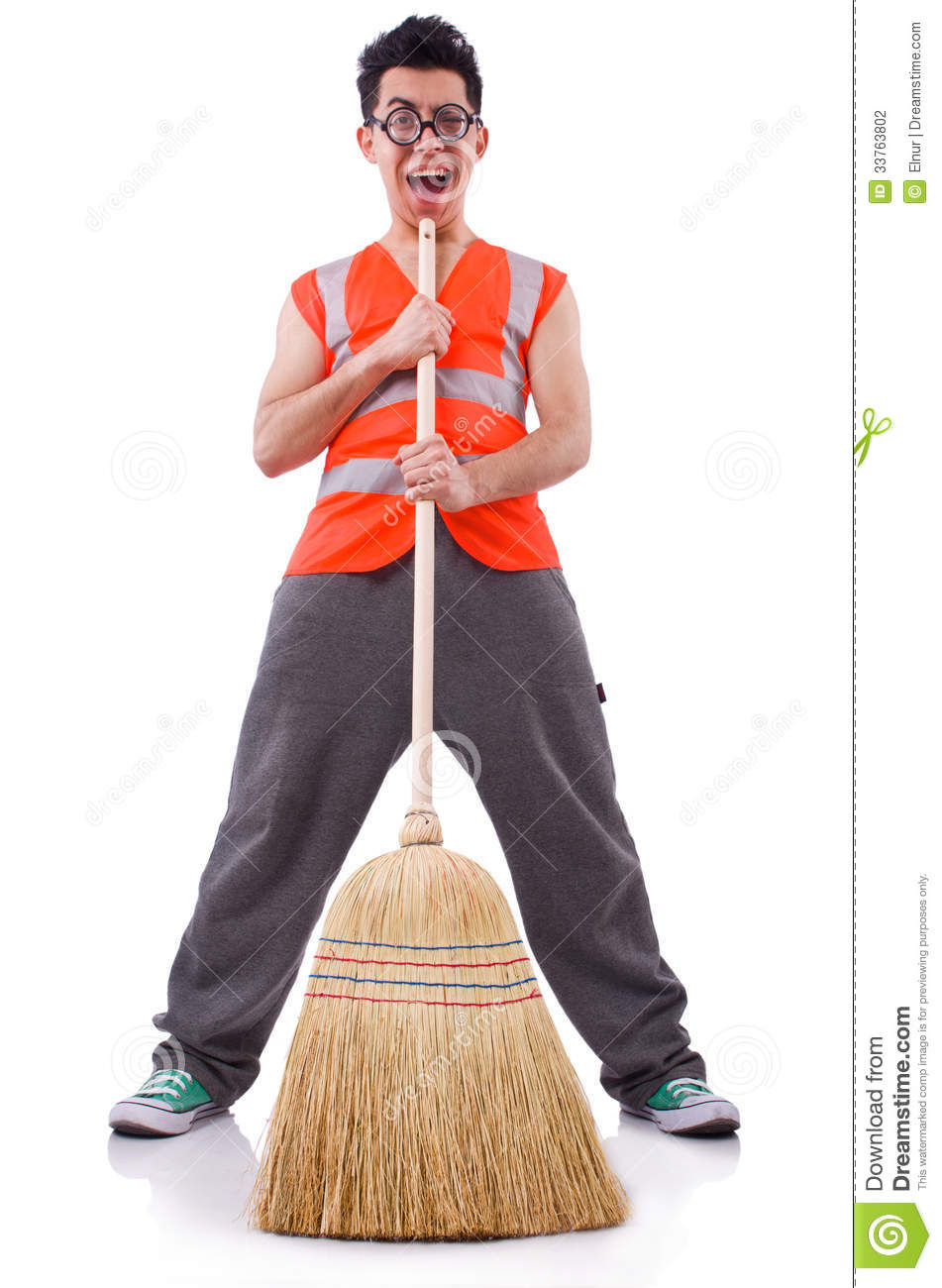 Funny janitor stock photo Image of humour comic mess