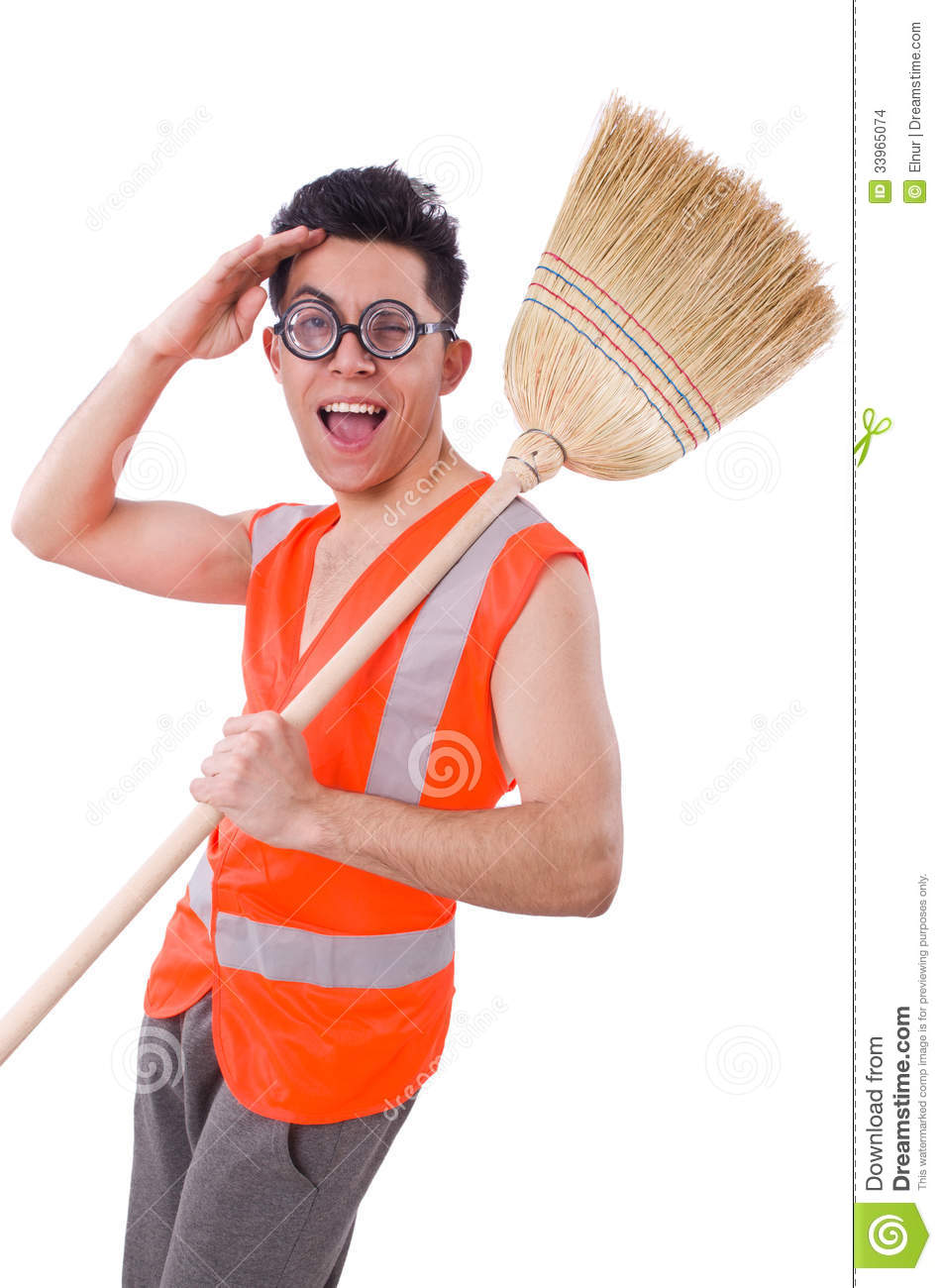 Funny Janitor Stock Images - Image: 33965074