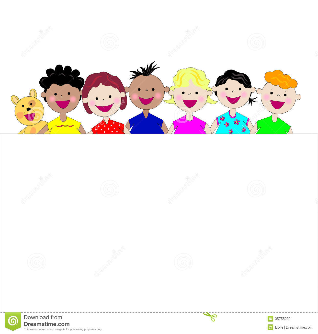 Funny Kids Together Stock Photography - Image: 35755232