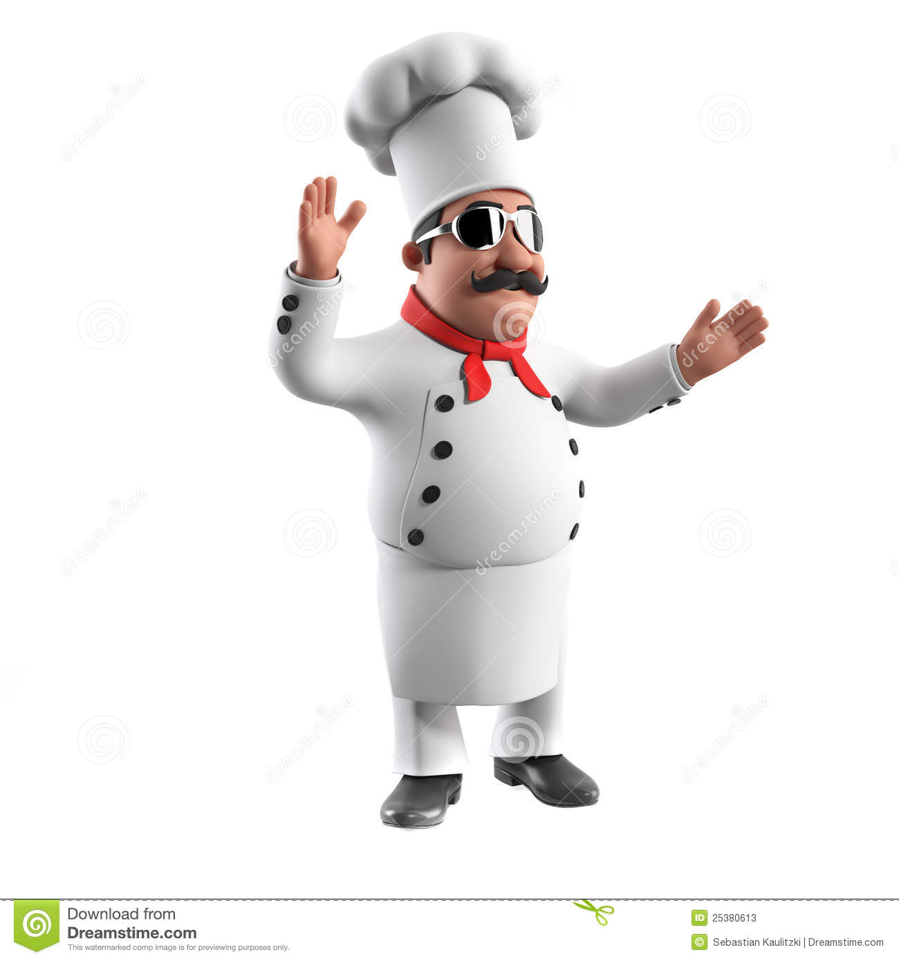 Funny Kitchen Chef Stock Illustration. Image Of