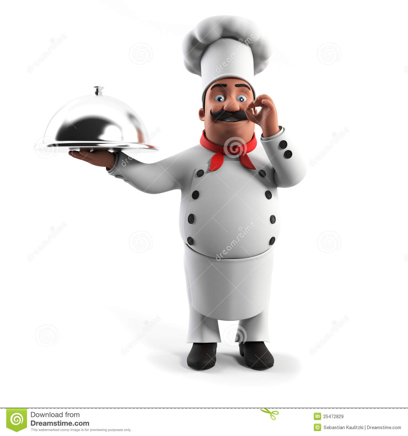 Funny Kitchen Chef Stock Illustration. Illustration Of