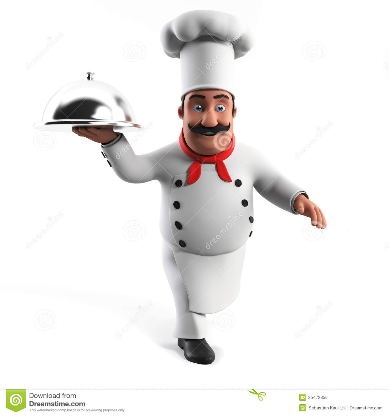 Funny kitchen chef stock illustration. Illustration of ...