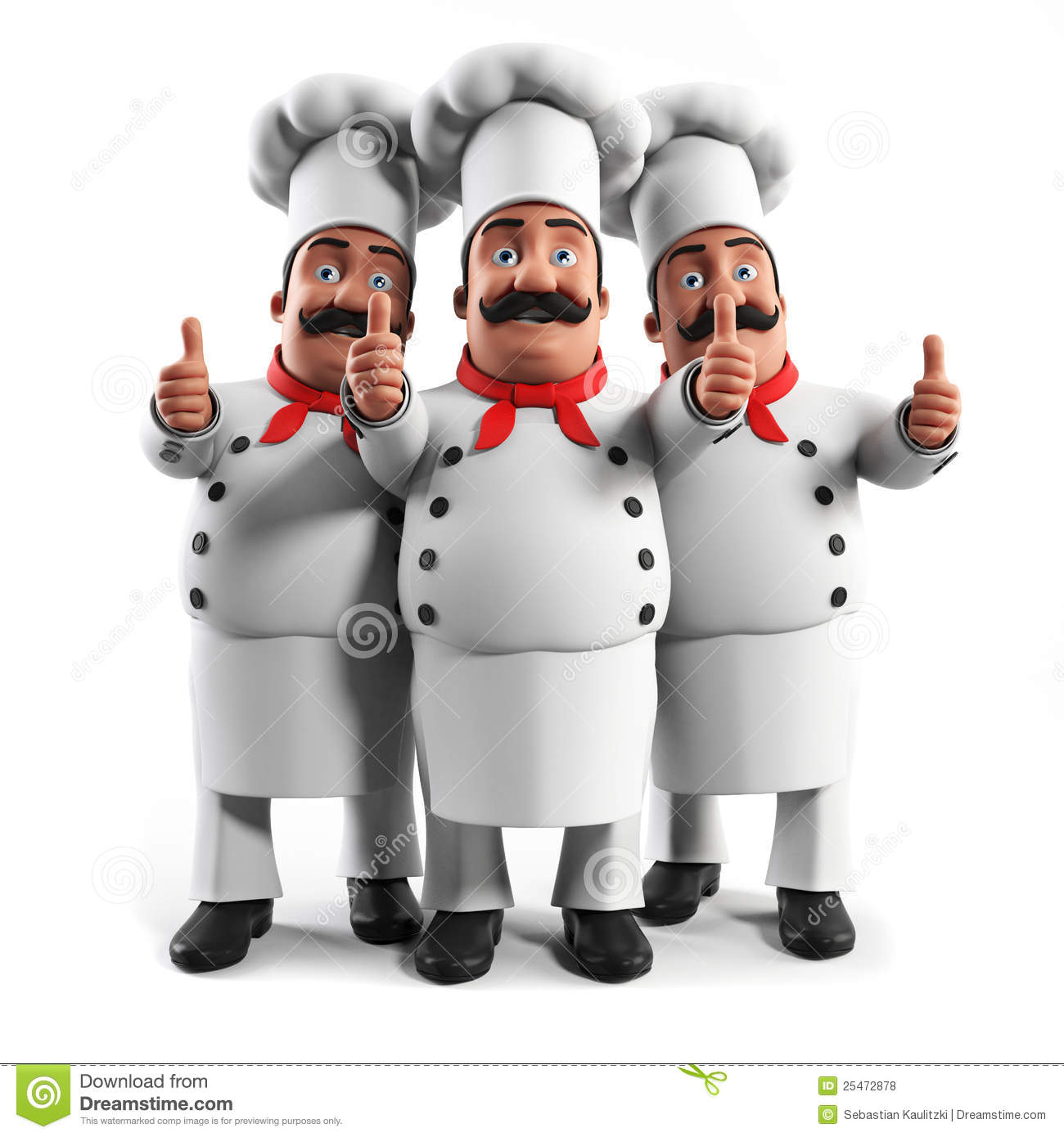 Funny Kitchen Chef Stock Illustration. Image Of Moustache