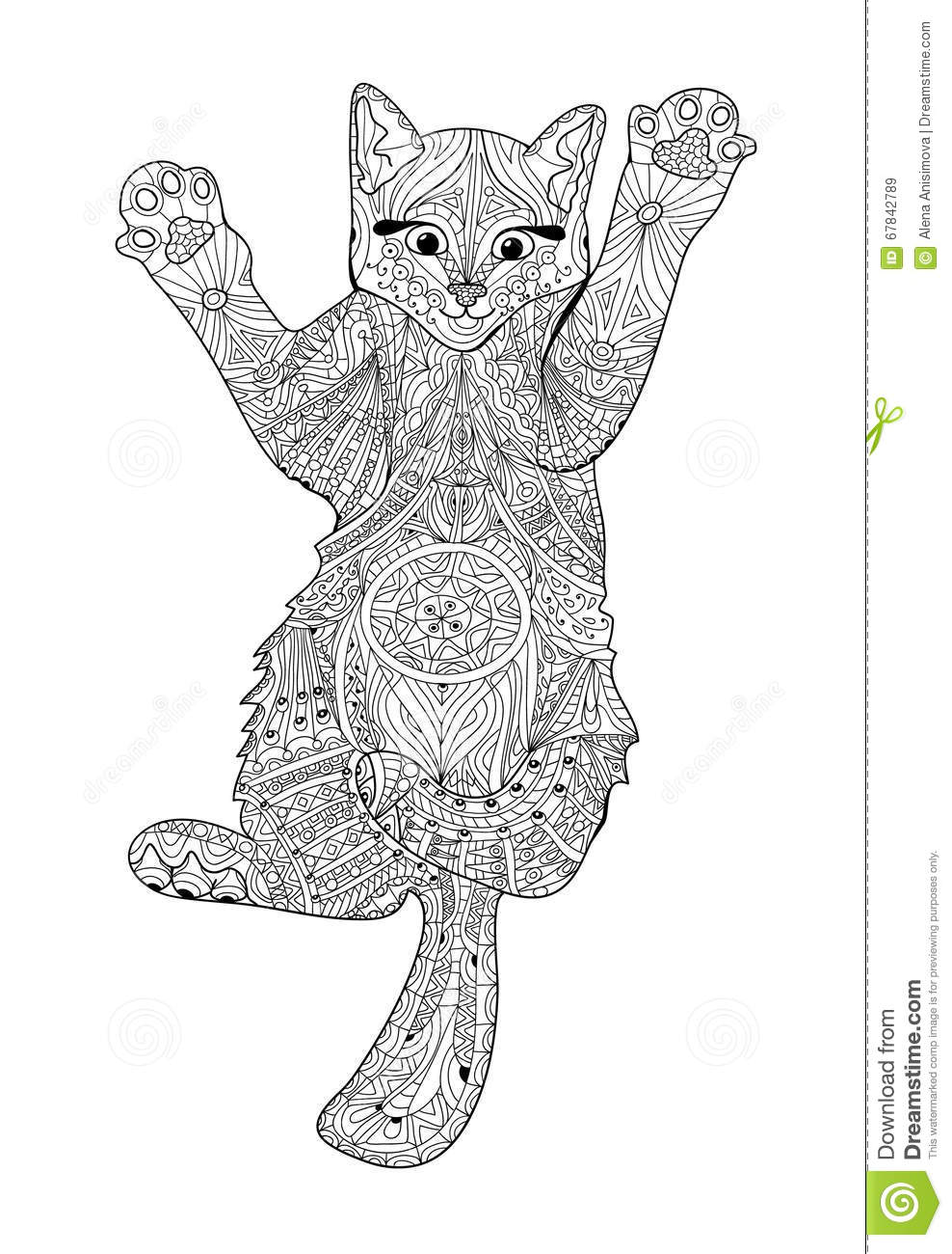Royalty Free Vector Download Funny Kitten