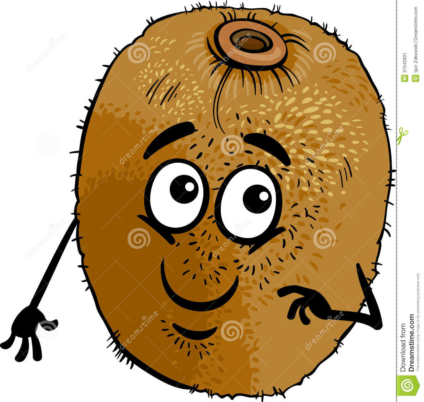 Funny Kiwi Fruit Cartoon Illustration Stock Image - Image: 31542901