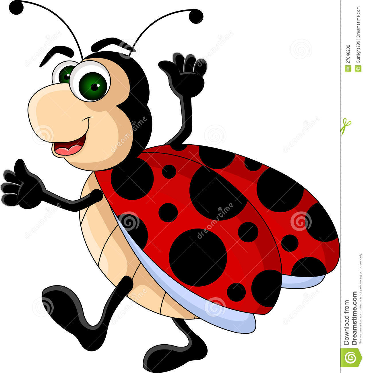 A Cartoon Ladybug funny ladybug cartoon stock illustration. illustration of