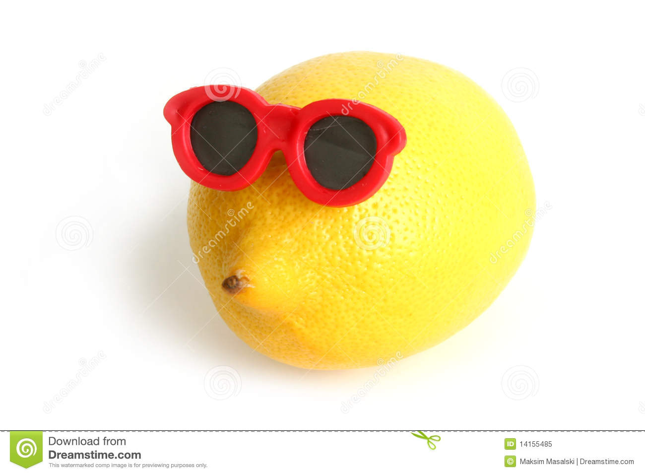 Funny Lemon In Sun Glasses Royalty Free Stock Photo - Image: 14155485