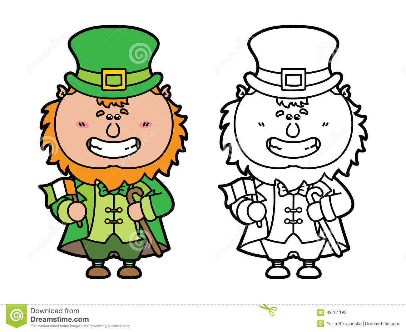 Funny Leprechaun Stock Vector Image 48791182