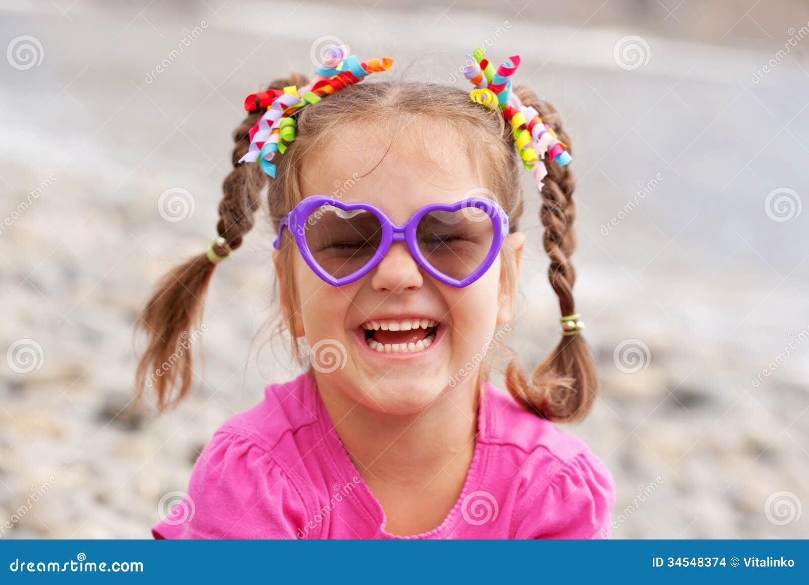 Funny little girl wear...