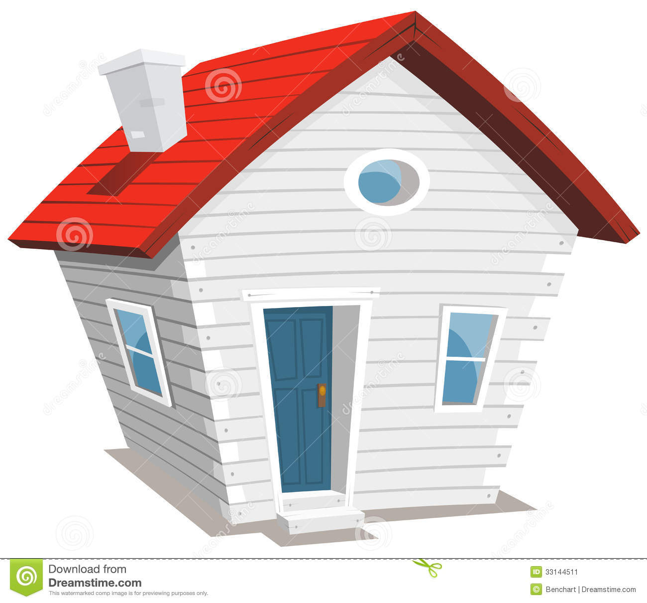 Funny Little House Stock Vector Image Of Small Lifestyle