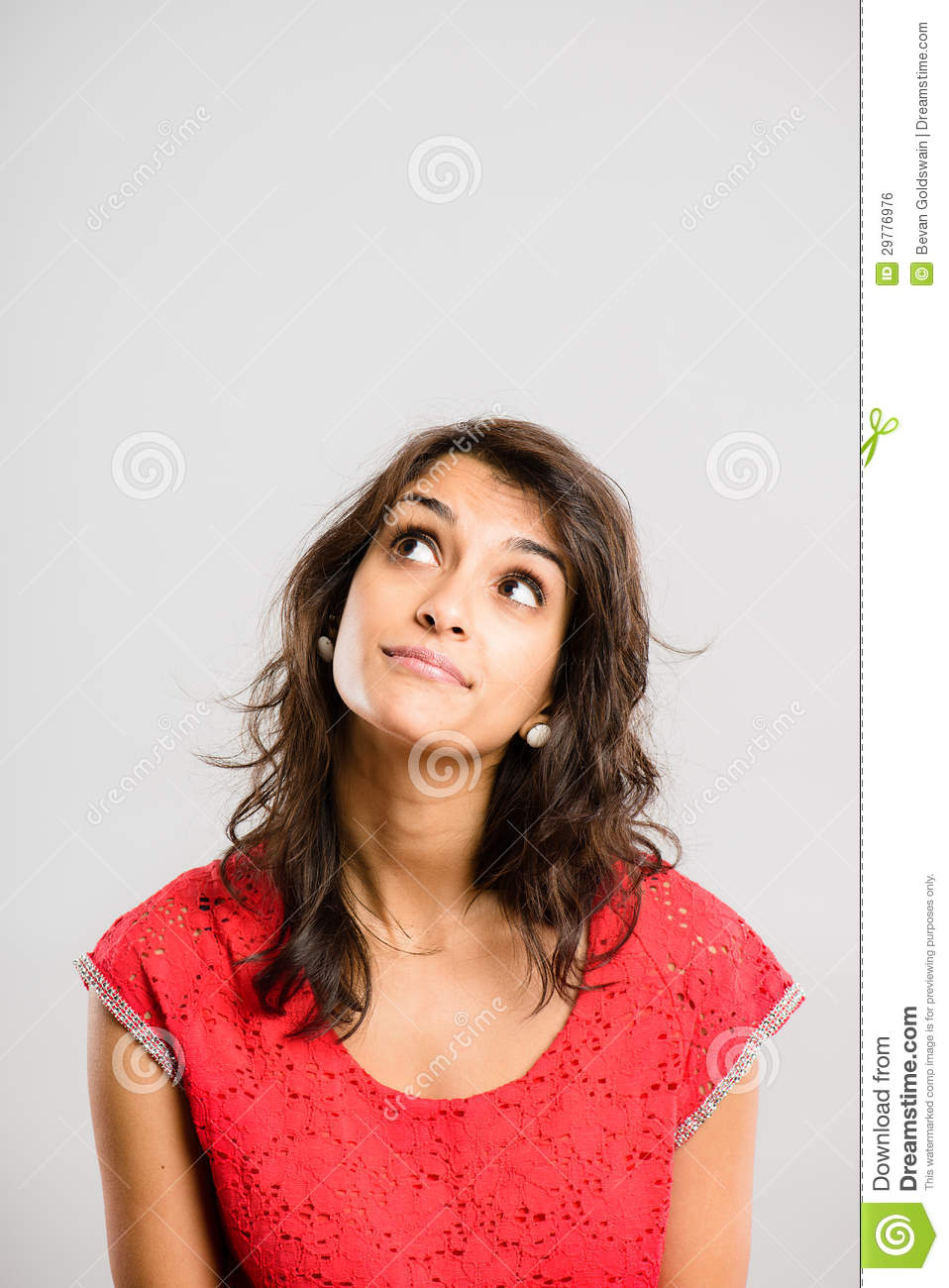 Funny Woman Portrait Real People High Definition Grey