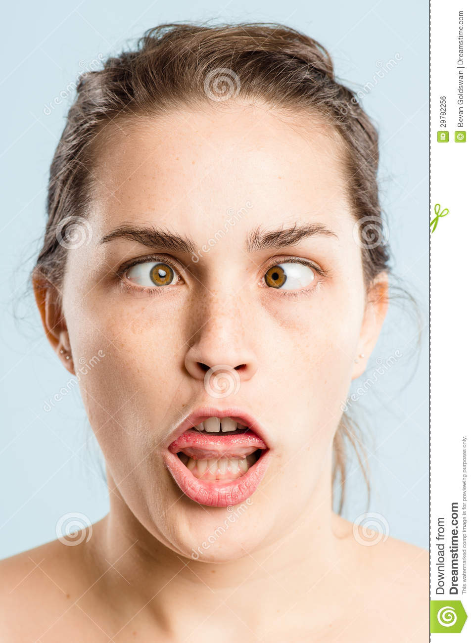 Funny Woman Portrait Real People High Definition Blue -3266