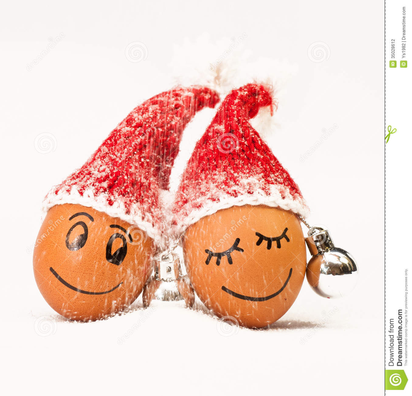e0ff1519d3912 Funny lovely eggs in winter santa hats. sugar like a snowflakes. together  is more warmer.