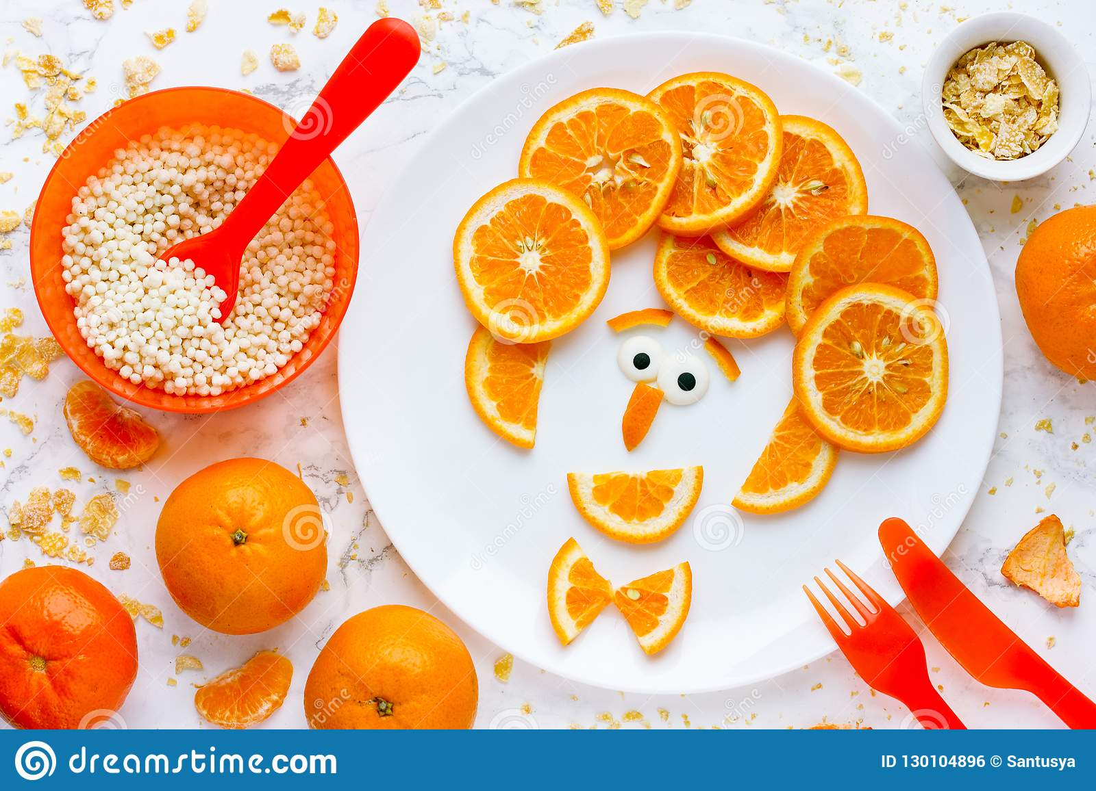 Funny Man Face Fruit Plate Creative Idea For Healthy Snack Or Dessert For Kids Stock Photo Image Of Fruit Cooking 130104896