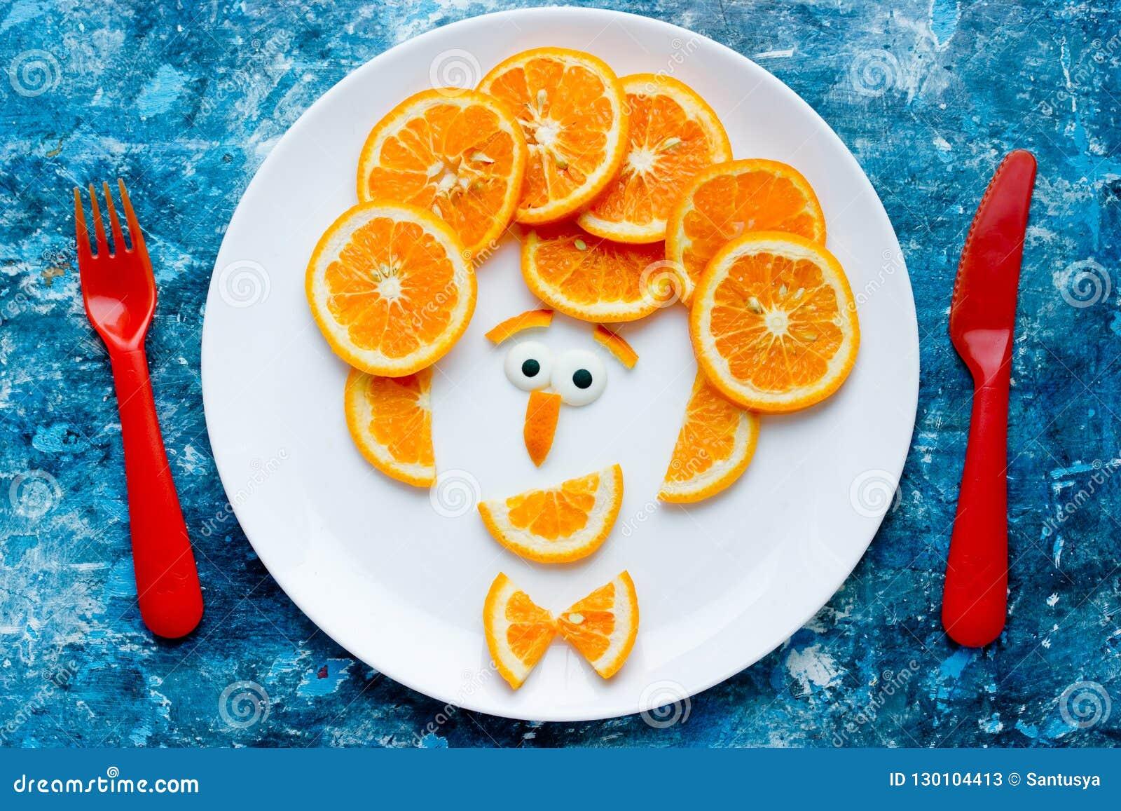 Funny Man Face Fruit Plate Stock Image Image Of Idea 130104413