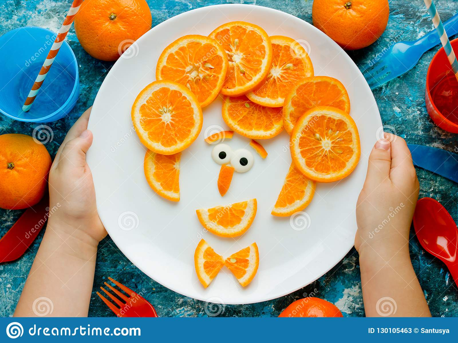 Funny Man Face Fruit Plate Creative Idea For Healthy Snack Or Dessert For Kids Stock Image Image Of Craft Antioxidant 130105463