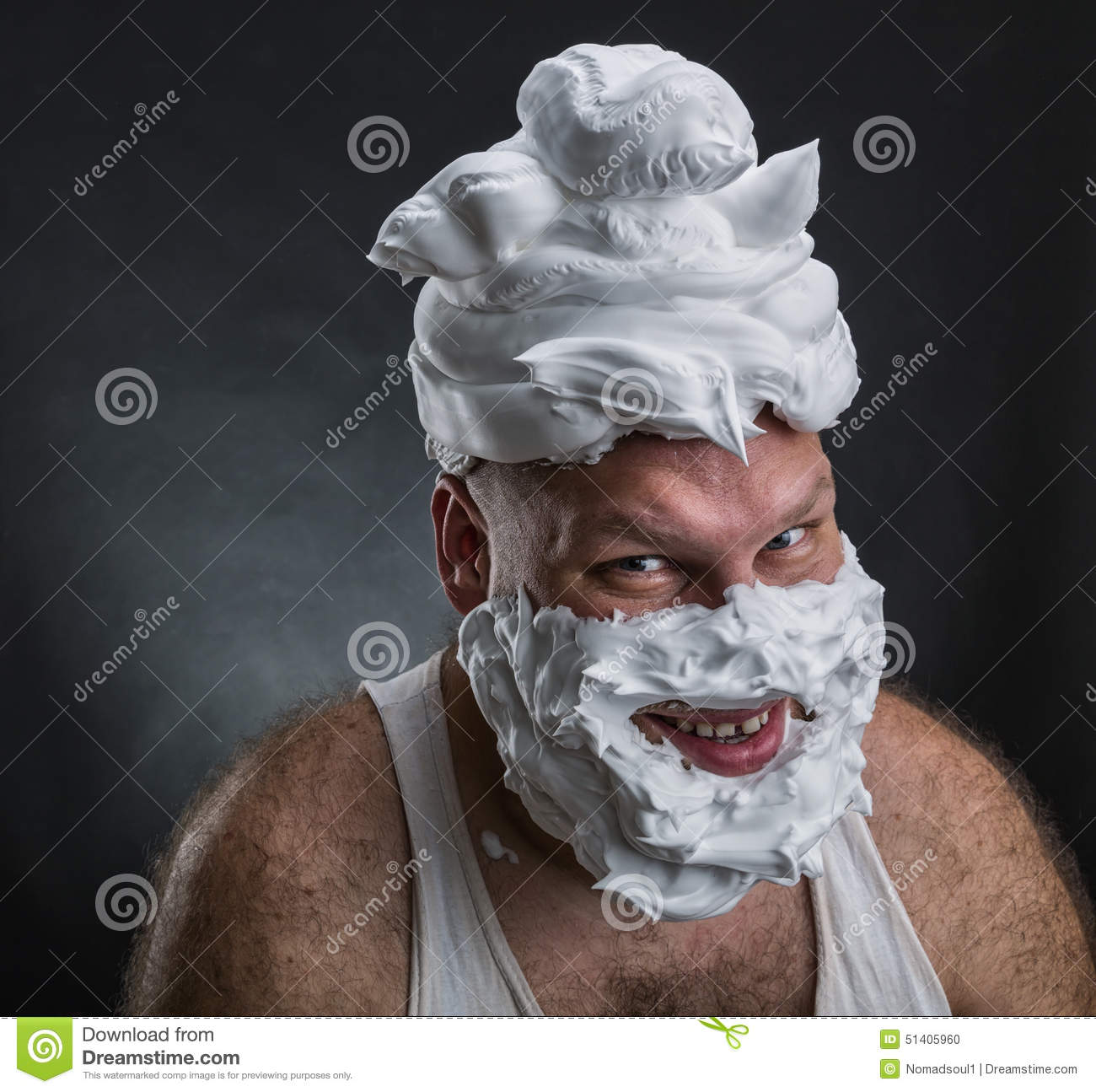 how to put shaving cream on face