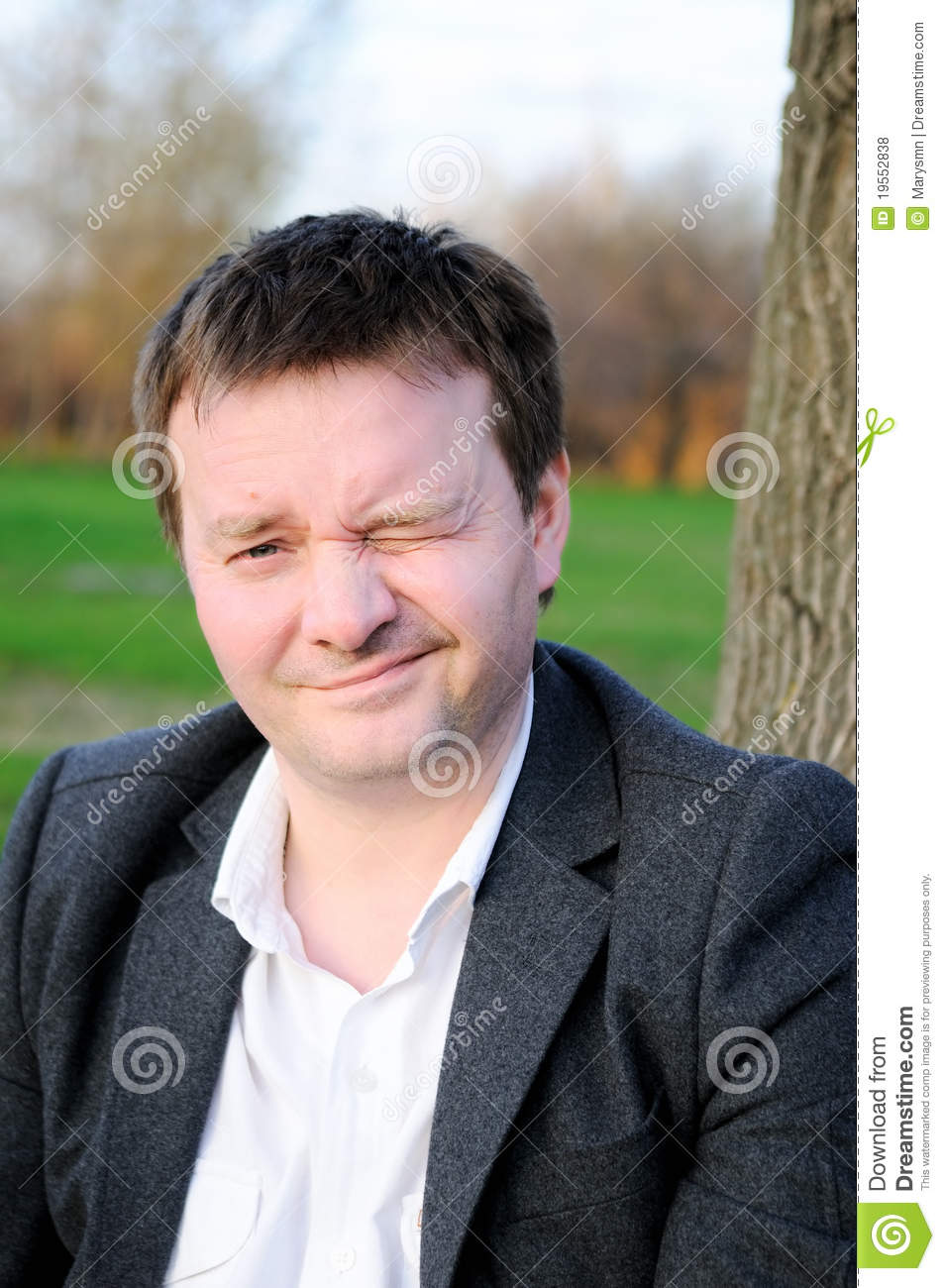 Royalty Free Stock Photos Funny Man Winking