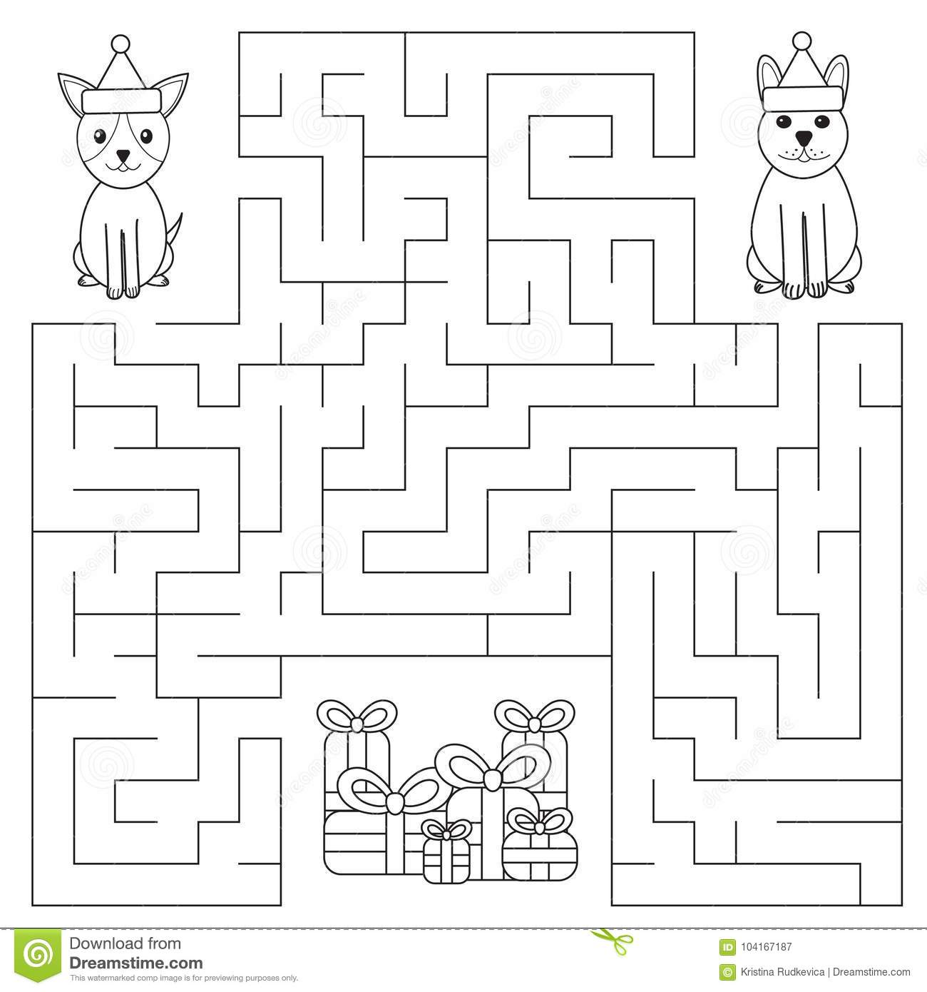 Christmas Maze Coloring Pages - GetColoringPages.com | 1390x1300