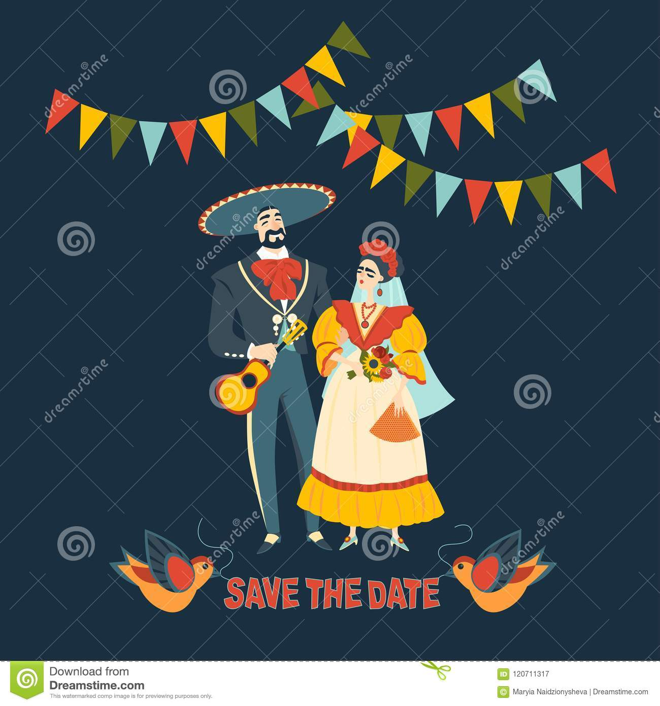 Funny Mexican Wedding Beautiful Couple In Love Traditional Clothes: Mexican Wedding Invitation Backgrounds At Reisefeber.org