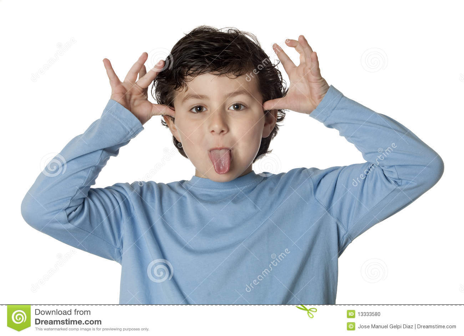 Funny Mocking Child Stock Photo - Image: 13333580