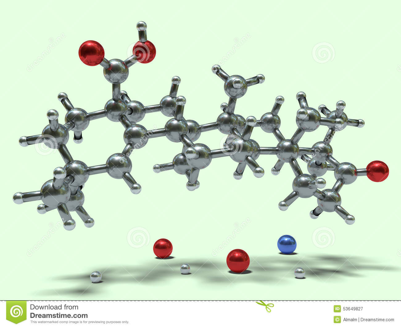 Funny Molecules - Moronic Acid Stock Illustration - Illustration of