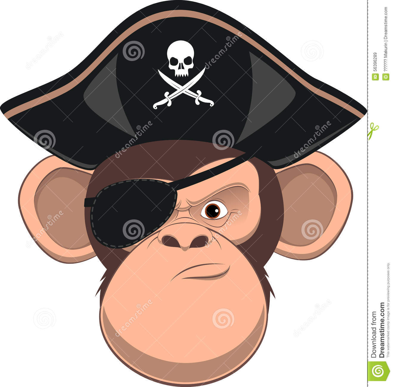 funny monkey stock vector   image 56396289