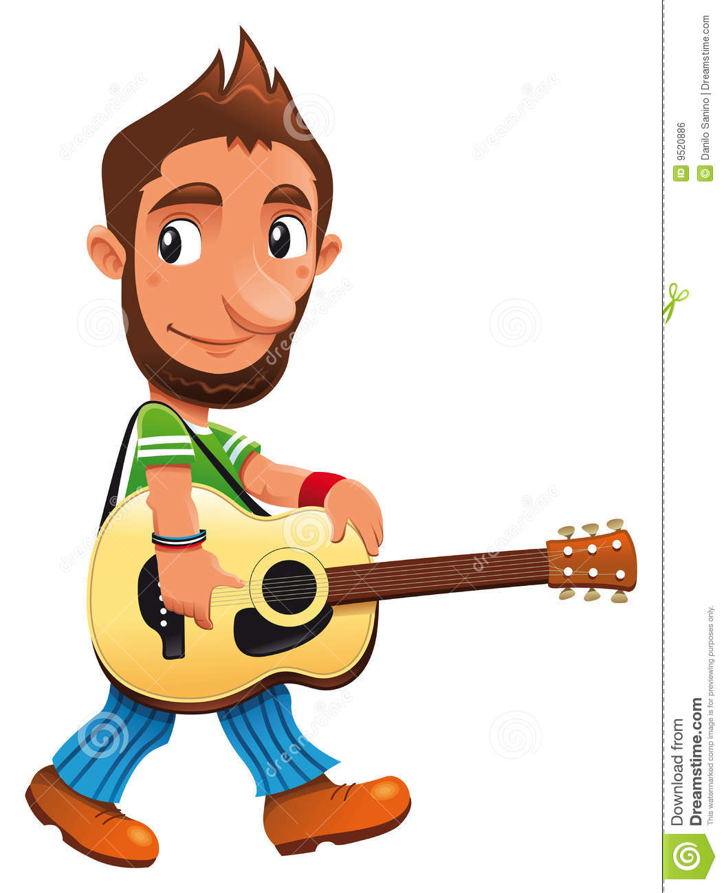 Funny Musician Royalty Free Stock Image - Image: 9520886