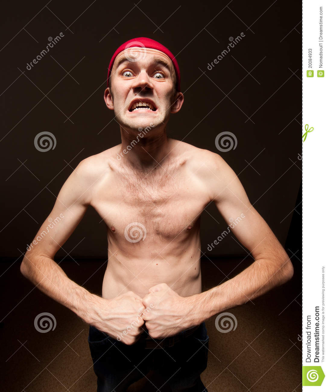 Funny Nerd Showing His Biceps Stock Photos - Image: 20084933