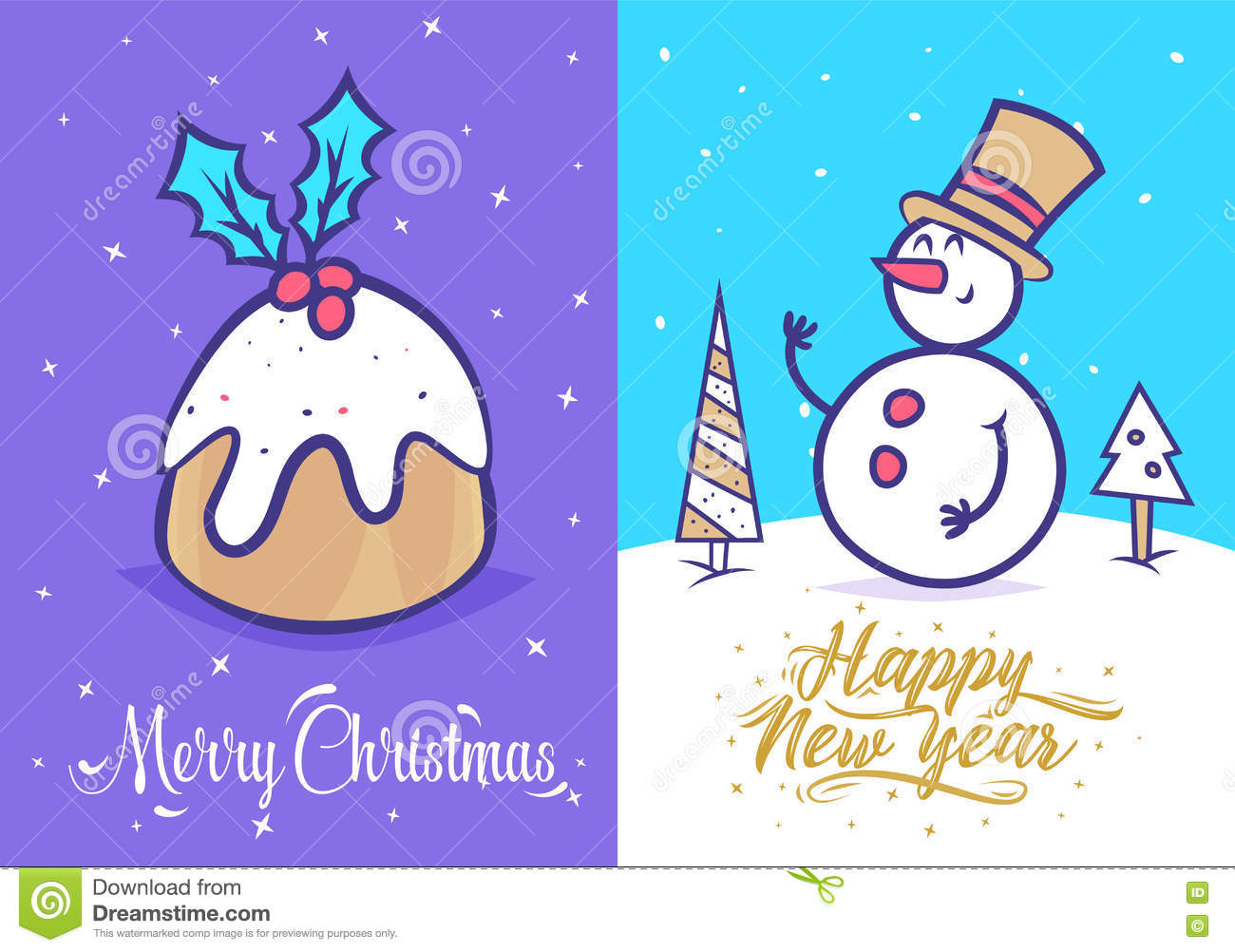 Funny new year set christmas greeting card background poster funny new year set christmas greeting card background poster vector illustration m4hsunfo