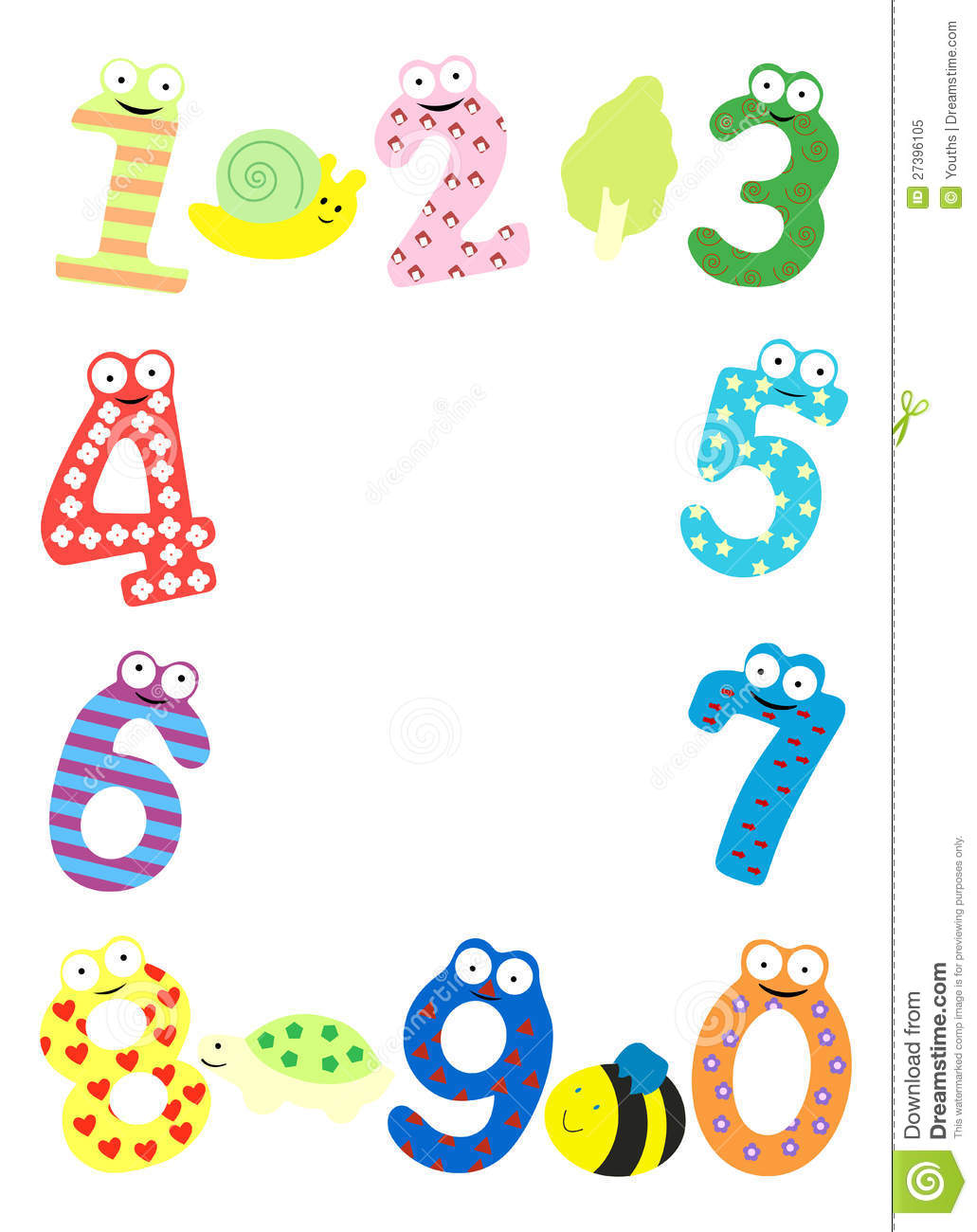 Eyeglasses Frame Numbers : Funny Number Frame Royalty Free Stock Photo - Image: 27396105